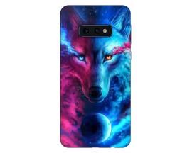 Husa Silicon Soft Upzz Print Compatibila Cu Samsung Galaxy S10e Model Wolf