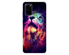 Husa Silicon Soft Upzz Print Compatibila Cu Samsung Galaxy S20 Model Neon Lion