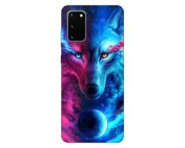 Husa Silicon Soft Upzz Print Compatibila Cu Samsung Galaxy S20 Model Wolf