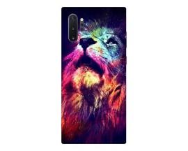 Husa Silicon Soft Upzz Print Compatibila Cu Samsung Galaxy Note 10+ Plus Model  Neon Lion