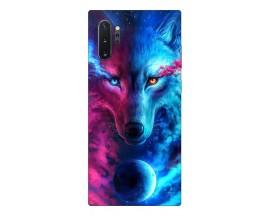 Husa Silicon Soft Upzz Print Compatibila Cu Samsung Galaxy Note 10+ Plus Model Wolf