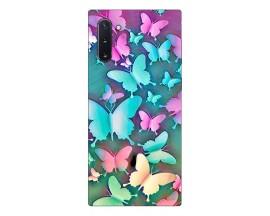 Husa Silicon Soft Upzz Print Compatibila Cu Samsung Galaxy Note 10 Model Colorfull Butterflies