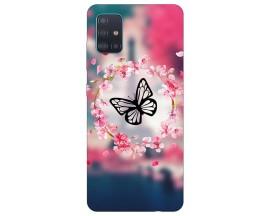 Husa Silicon Soft Upzz Print Compatibila Cu Samsung Galaxy A71 5G Model Butterfly