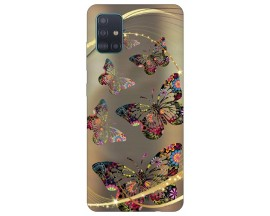 Husa Silicon Soft Upzz Print Compatibila Cu Samsung Galaxy A71 5G Model Golden Butterfly