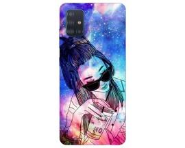 Husa Silicon Soft Upzz Print Compatibila Cu Samsung Galaxy A71 5G Model Universe Girl