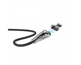 Cablu Incarcare Hoco Blaze Cu Cap Magnetic Detasabil, Compatibil Cu Device-uri Cu Mufa Lightning, Negru U75