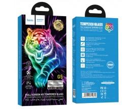 Folie Sticla Securizata Premium Full Cover Hoco Compatibila Cu iPhone 11 Pro Max, Transparenta Cu Margine Neagra