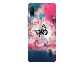 Husa Silicon Soft Upzz Print Compatibila Cu Huawei P30 Lite Model Butterfly