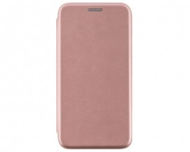 Husa Flip Carte Cu Magnet Lux Upzz Compatibila Cu Samsung Galaxy M51, Rose Gold