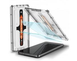 Folie Premium Sticla Securizata Spigen Glass Tr Ez Fit Compatibila Cu Samsung S21+ Plus, 2 Bucati In Pachet