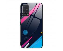 Husa Premium Upzz Glass Color Compatibila Cu Samsung Galaxy A51, Protectie La Camera , Model 4