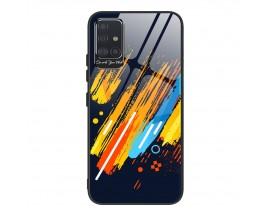 Husa Premium Upzz Glass Color Compatibila Cu Samsung Galaxy A51, Protectie La Camera , Model 5