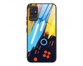 Husa Premium Upzz Glass Color Compatibila Cu Samsung Galaxy A71, Protectie La Camera , Model 1