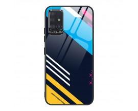 Husa Premium Upzz Glass Color Compatibila Cu Samsung Galaxy A71, Protectie La Camera , Model 2