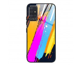 Husa Premium Upzz Glass Color Compatibila Cu Samsung Galaxy A71, Protectie La Camera , Model 3