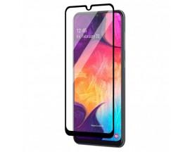 Folie Full Cover Upzz Glass Compatibila Cu Samsung Galaxy A12, Adeziv Pe Toata Suprafata, Transparenta Cu Margine Neagra