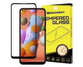 Folie Sticla Full Cover Full Glue Wozinsky Pentru Samsung Galaxy A11 / M11, Cu Adeziv Pe Toata Suprafata Foliei Neagra