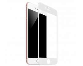 Folie Sticla Securizata Premium Full Cover Hoco Compatibila Cu iPhone 7 / 8, Transparenta Cu Margine Alba