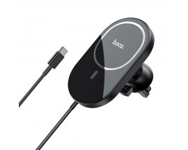 Incarcator Auto Premium Hoco Wireless MagSafe 7,5W Pentru Ventialtie Compatibil Cu iPhone 12, 12 Mini, 12 Pro, 12 Pro Max