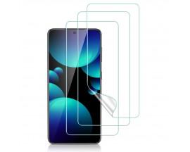 Folie Silicon  Premium Esr Liquid Skin Pentru Samsung Galaxy S21+ Plus, 3 Bucati In Pachet, Transparenta
