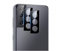 Folie Sticla Securizata Esr Pentru Camera Compatibila Cu Samsung S21+ Plus, Negru, 2 Bucati