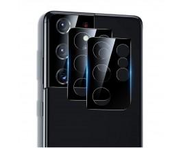 Folie Sticla Securizata Esr Pentru Camera Compatibila Cu Samsung S21 Ultra, Negru, 2 Bucati
