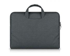 Husa Geanta UPzz Tech-Protect Briefcase Compatibila Cu Laptop / Macbook Pro 15 - 16inch, Dark Grey