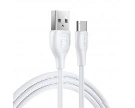 Cablu Date Incarcare Remax Lesu Pro Compatibil Cu Dispozitive Cu Mufa Type-C, 2.1A, Alb - RC-160a