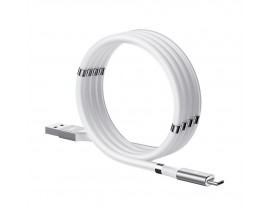 Cablu Date Incarcare Remax Mganetic Storing Compatibil Cu Dispozitive Cu Mufa Type-C, 2.1A, Alb - RC-125a
