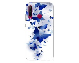 Husa Silicon Soft Upzz Print Compatibila Cu Huawei Y6P Model Be Blue Butterflies