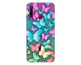 Husa Silicon Soft Upzz Print Compatibila Cu Huawei Y6P Model Colorfull Butterflies