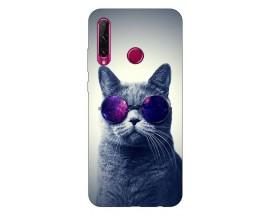 Husa Silicon Soft Upzz Print Compatibila Cu Huawei Y6P Model Cool Cat
