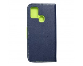 Husa Flip Carte Upzz Fancy Book Compatibila Cu Samsung Galaxy A21s, Navy Verde