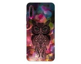 Husa Silicon Soft Upzz Print Compatibila Cu Huawei Y6P Model Sparkle Owl