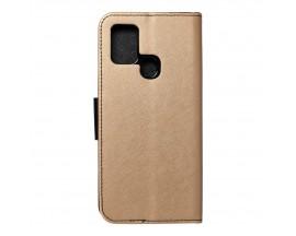 Husa Flip Carte Upzz Fancy Book Compatibila Cu Samsung Galaxy A21s, Gold Negru