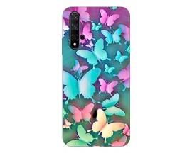 Husa Silicon Soft Upzz Print Compatibila Cu Huawei Huawei Nova 5T Model Colorfull Butterflies