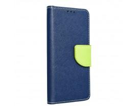 Husa Flip Carte Upzz Fancy Book Compatibila Cu Samsung A71, Navy Lime