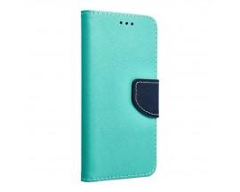 Husa Flip Carte Upzz Fancy Book Compatibila Cu Samsung S8, Navy Verde Menta