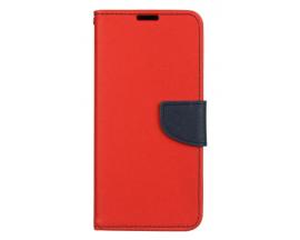 Husa Flip Carte Fancy Book Compatibila Cu Samsung M11 / A11 , Navy Rosu