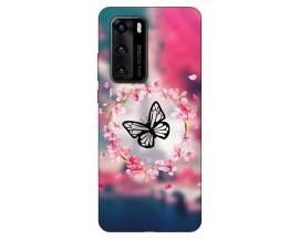 Husa Silicon Soft Upzz Print Compatibila Cu Huawei P40 Model Butterfly