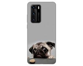 Husa Silicon Soft Upzz Print Compatibila Cu Huawei P40 Model Dog