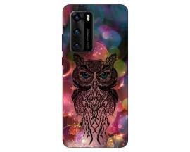 Husa Silicon Soft Upzz Print Compatibila Cu Huawei P40 Model Sparkle Owl