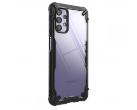 Husa Premium Ringke Fushion X Compatibila Cu Samsung Galaxy A32 5G, Transparenta Cu Margine Neagra