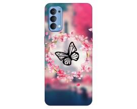 Husa Silicon Soft Upzz Print Compatibila Cu Oppo Reno 4 Model Butterfly