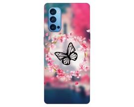 Husa Silicon Soft Upzz Print Compatibila Cu Oppo Reno 4 Pro 5G Model Butterfly