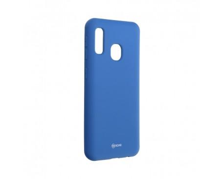 Husa Spate Silicon Roar Jelly Compatibila Cu Samsung Galaxy A20e, Navy Albastru