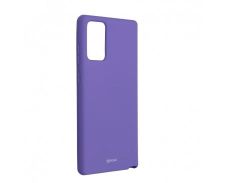 Husa Spate Silicon Roar Jelly Compatibila Cu Samsung Galaxy Note 20, Mov
