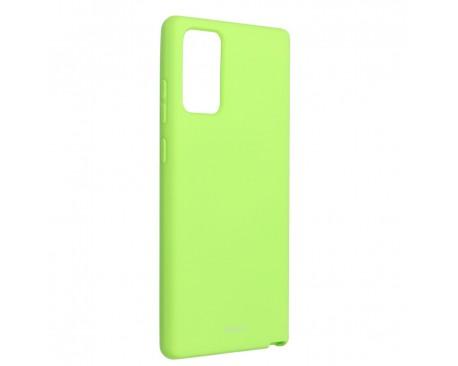 Husa Spate Silicon Roar Jelly Compatibila Cu Samsung Galaxy Note 20, Verde Lime