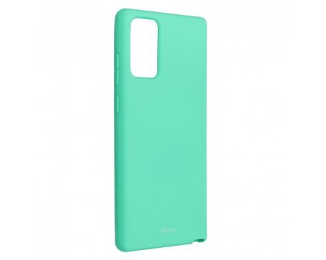 Husa Spate Silicon Roar Jelly Compatibila Cu Samsung Galaxy Note 20, Verde Menta