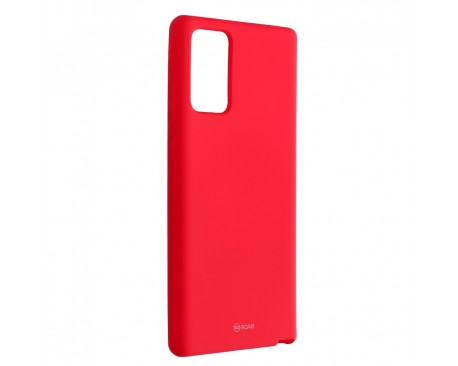 Husa Spate Silicon Roar Jelly Compatibila Cu Samsung Galaxy Note 20, Roz Aprins